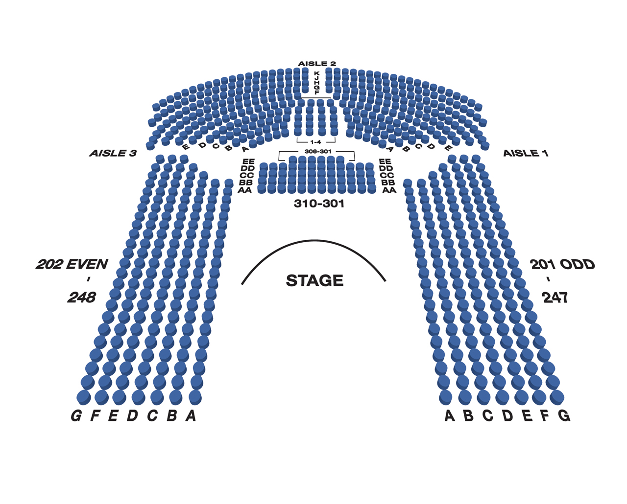 Circle in the Square Theatre Large Broadway Seating Charts