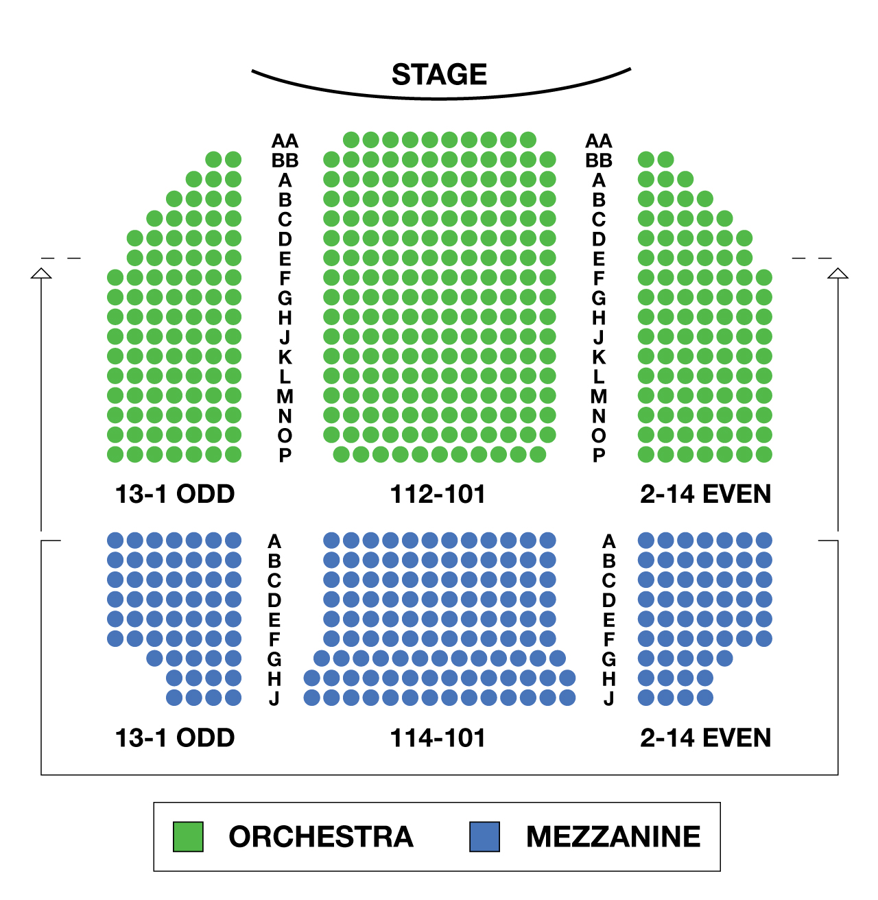 helen hayes theatre large broadway seating charts. Black Bedroom Furniture Sets. Home Design Ideas