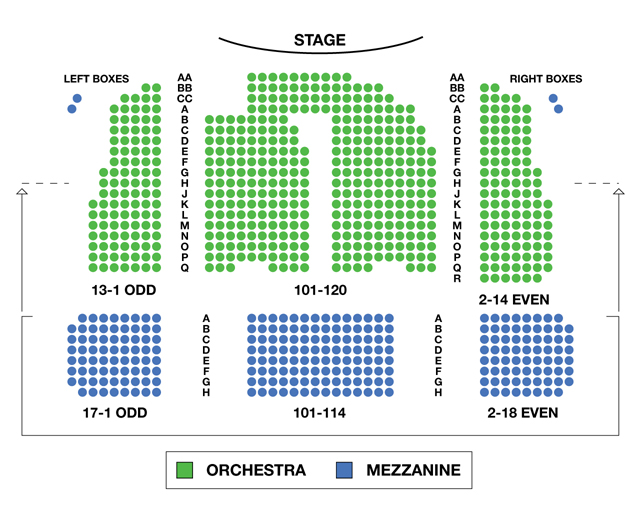 Booth Theatre Broadway Seating Charts