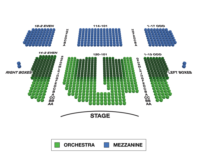 Booth Theatre Broadway 3D Seating Chart