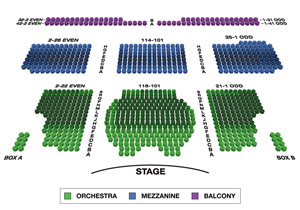 Walter Kerr Theatre Small Seating Chart