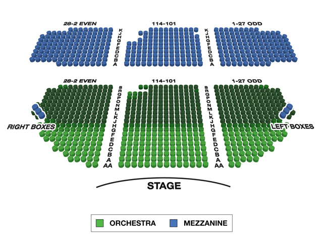 Gerald Schoenfeld Theatre Broadway 3D Seating Chart
