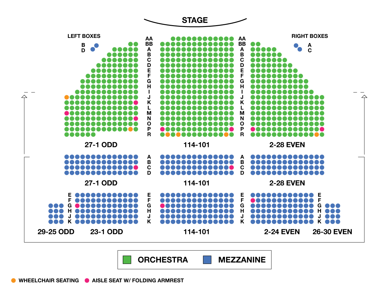 Bernard B Jacobs Theatre Large Broadway Seating Charts
