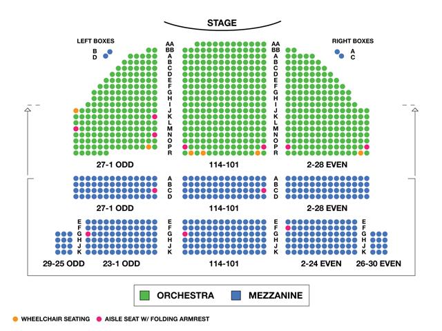 Bernard B. Jacobs Theatre Broadway Seating Chart
