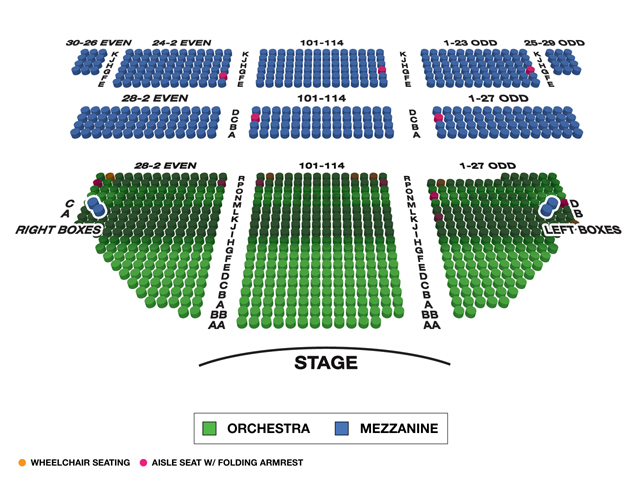 Bernard B. Jacobs Theatre (Broadway) Seating Chart