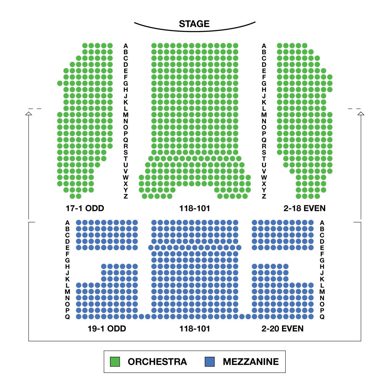 August wilson theatre large broadway seating charts for Broadway plan