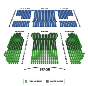 August Wilson Theatre Small Seating Chart