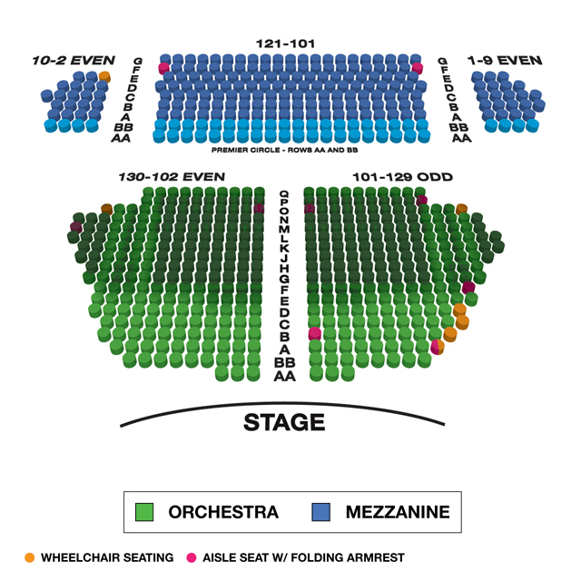 Samuel J Friedman Theatre Broadway Seating Chart