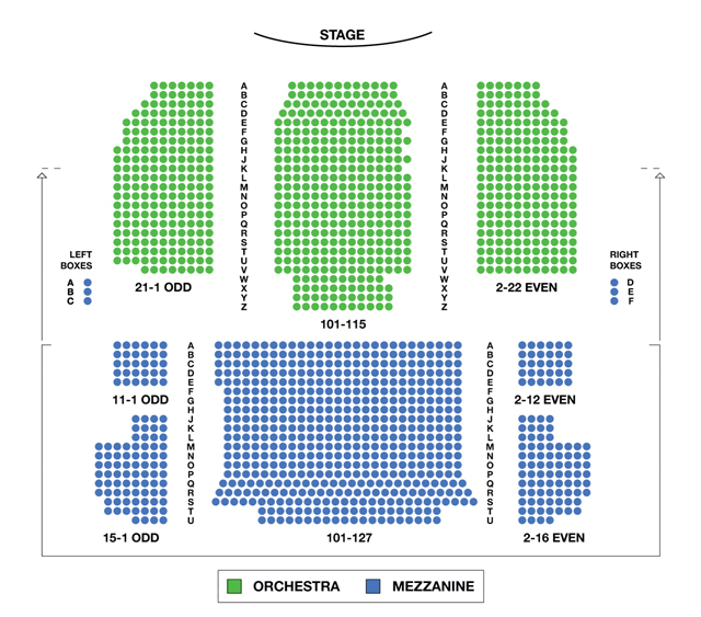 Neil Simon Theatre Broadway Seating Chart