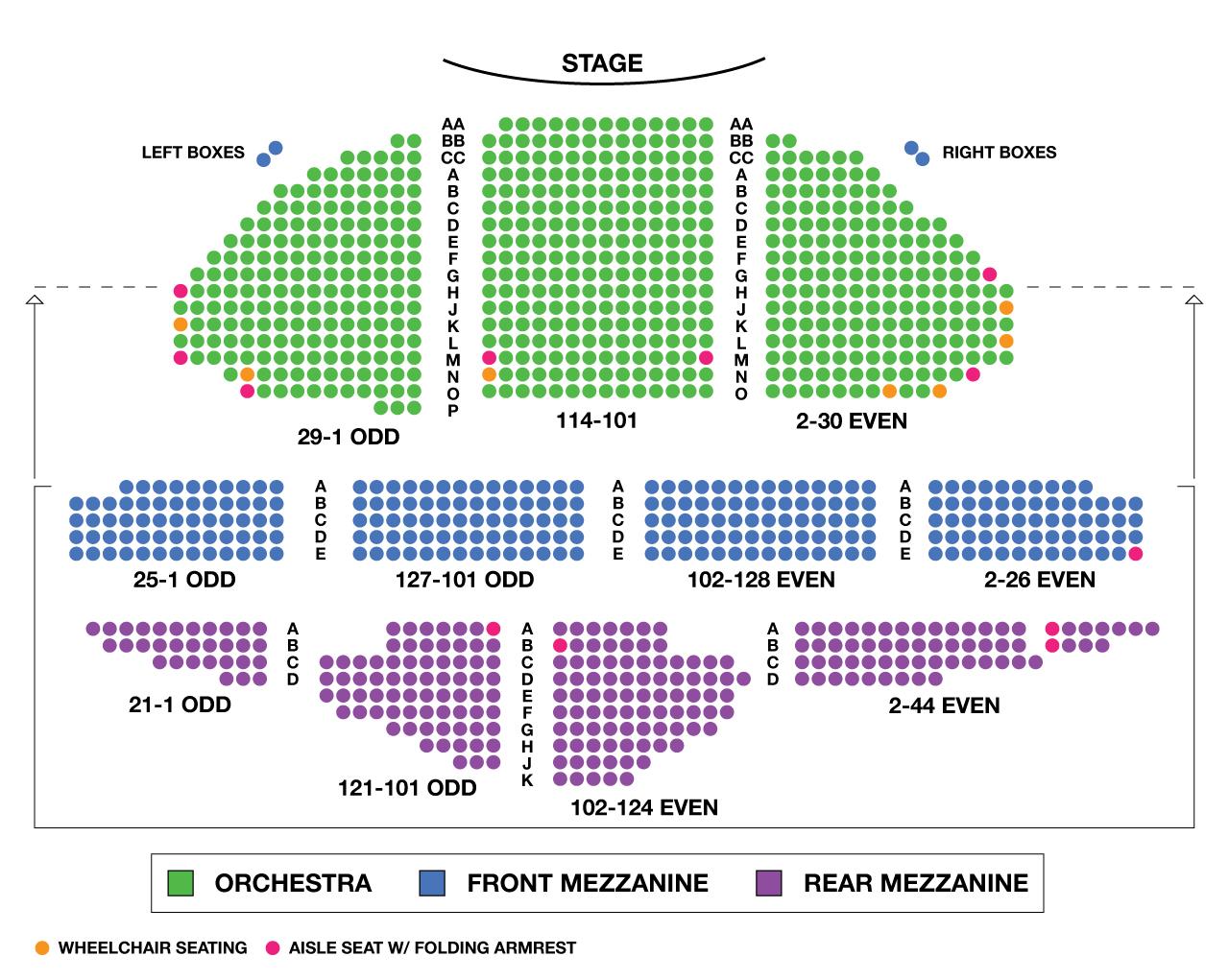 Ambassador Theatre Broadway Seating Chart Large