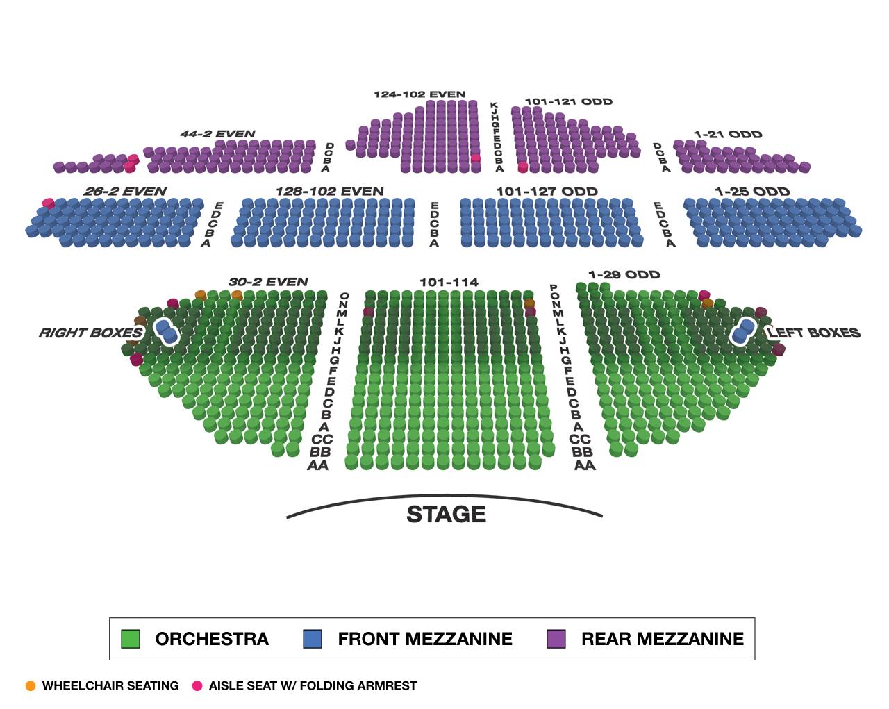 Ambassador Theatre Broadway 3D Seating Chart Large