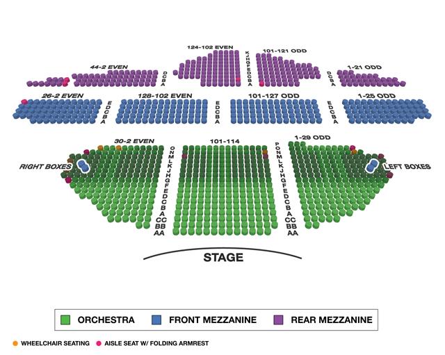 Ambassador Theatre Broadway 3D Seating Chart