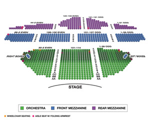 Ambassador Theatre Small Seating Chart