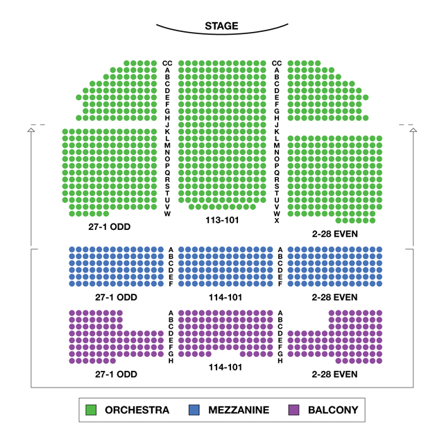 Richard Rodgers Theatre Broadway Seating Chart
