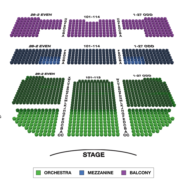 Richard Rodgers Theatre Broadway 3D Seating Chart