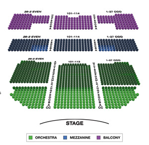 Richard Rodgers Theatre Small Seating Chart