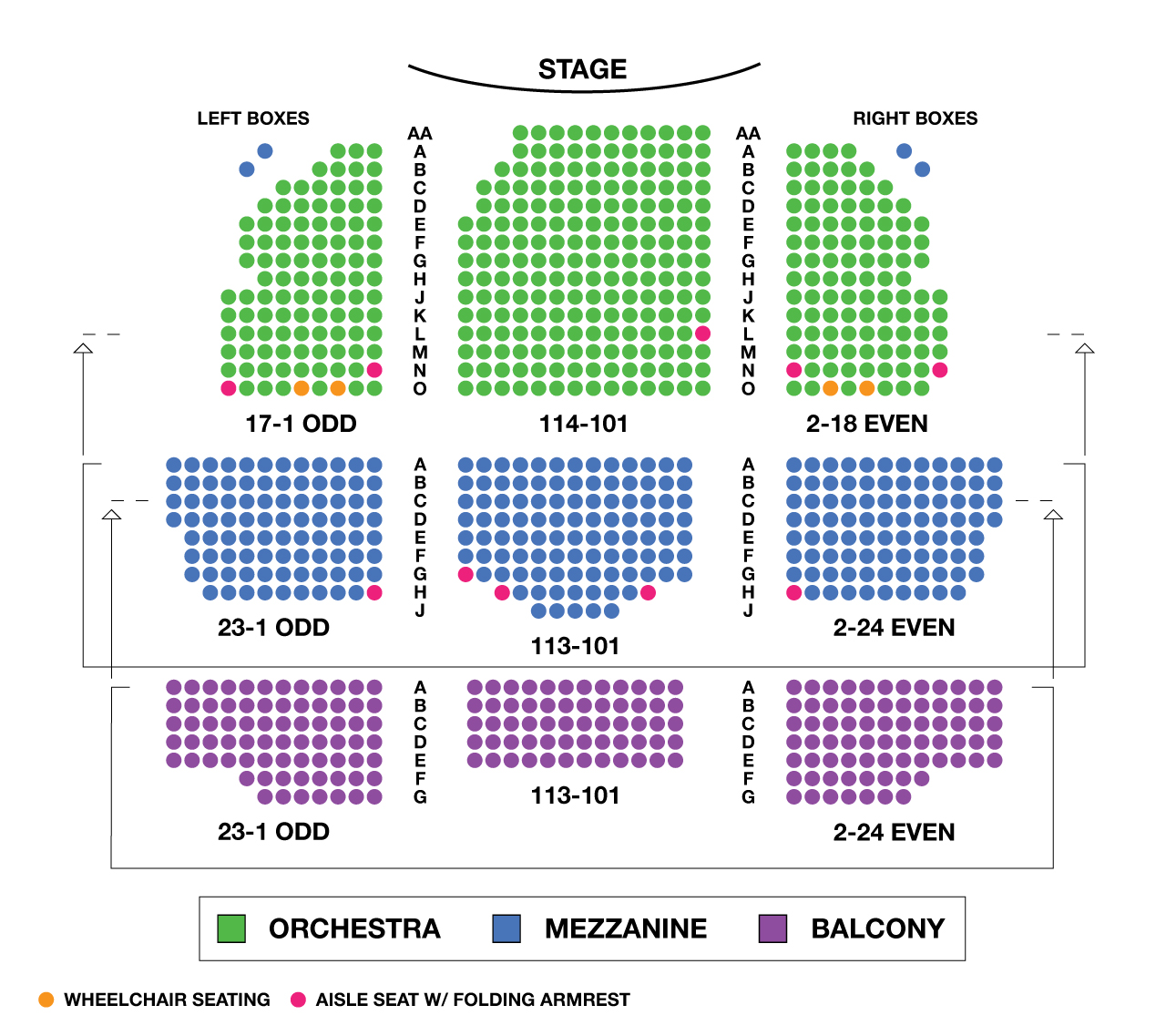 Lyceum theatre large broadway seating charts uk west end for Broadway plan