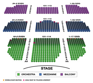 Lyceum Theatre Small Seating Chart