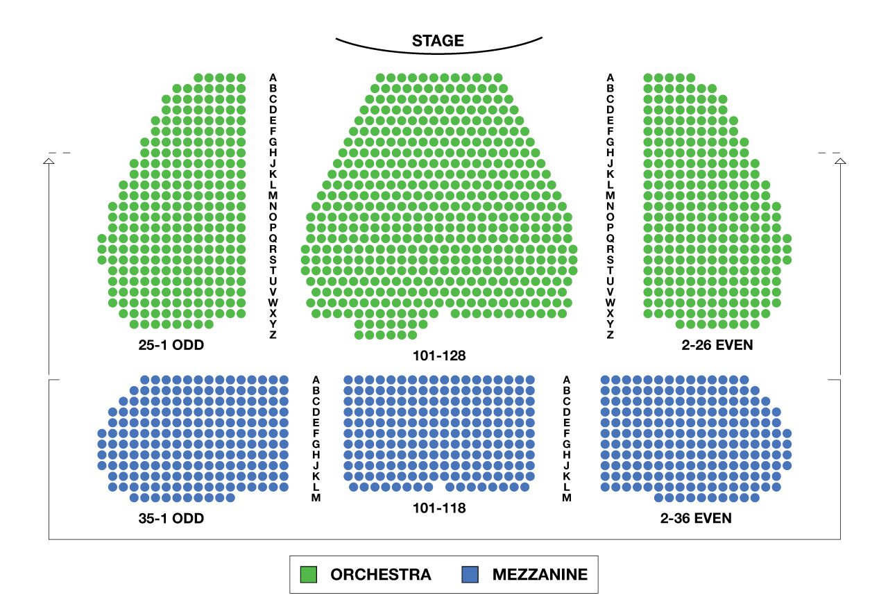 Marquis Theatre Large Broadway Seating Charts