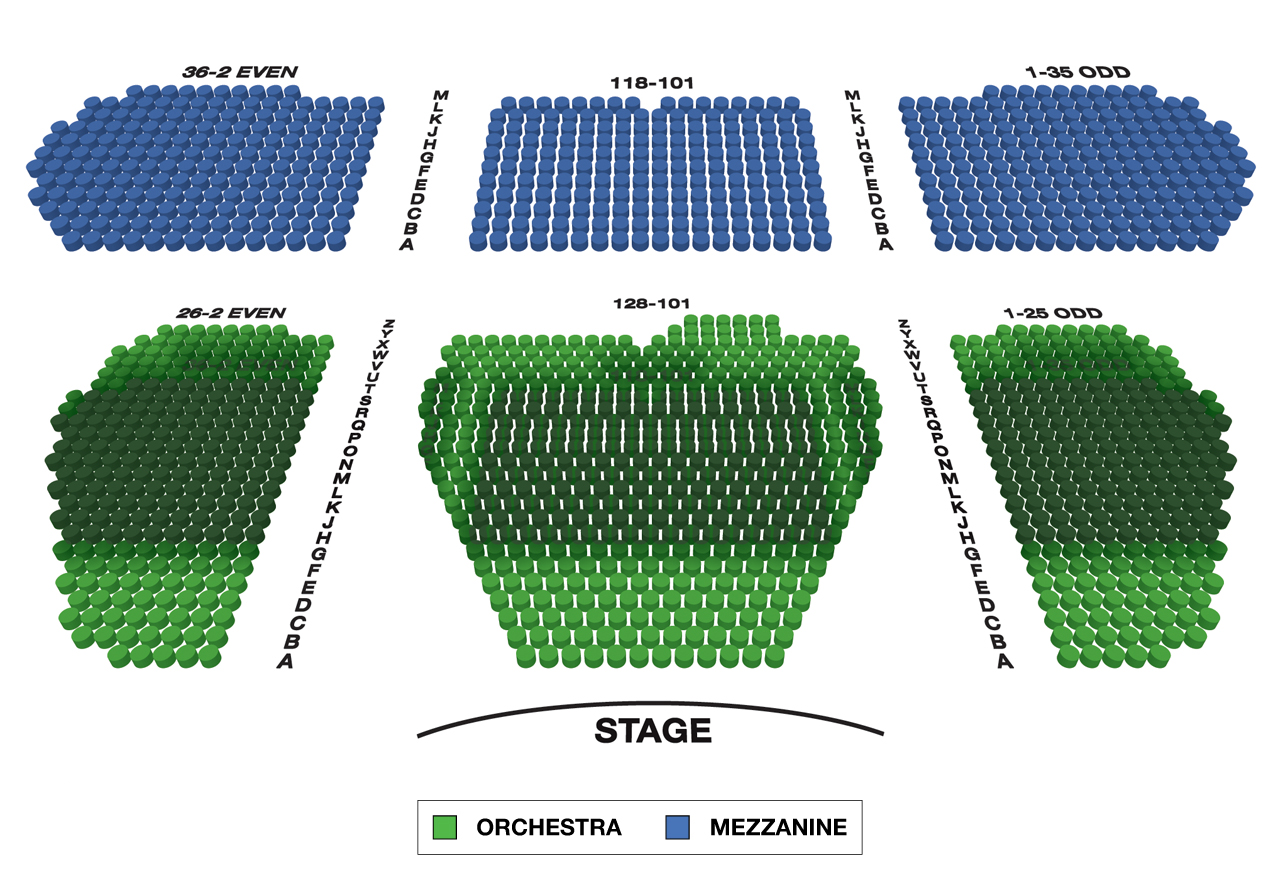 Marquis Theatre Broadway Seating Chart Large