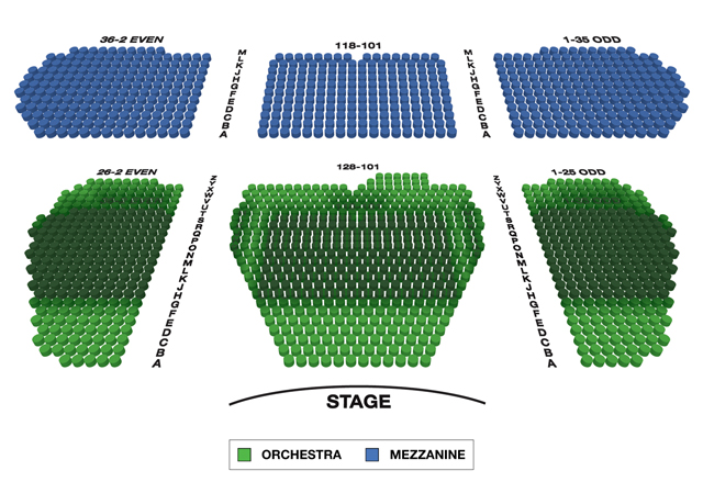 Marquis Theatre Broadway 3D Seating Chart