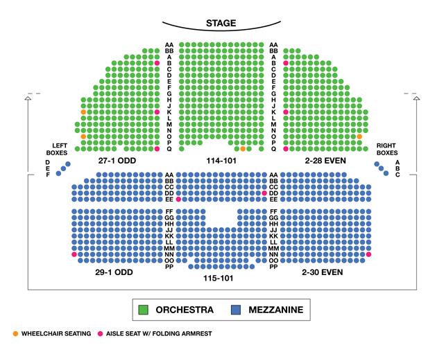 Nederlander Theatre Broadway Seating Chart