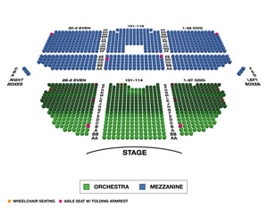 Nederlander Theatre Small Seating Chart