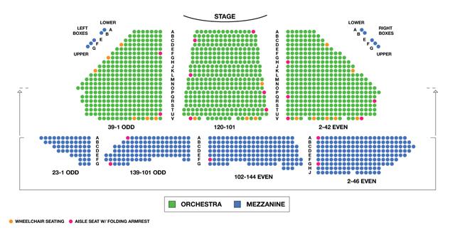 Winter Garden Theatre Broadway Seating Chart