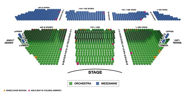 Winter Garden Theatre Broadway 3D Seating Chart
