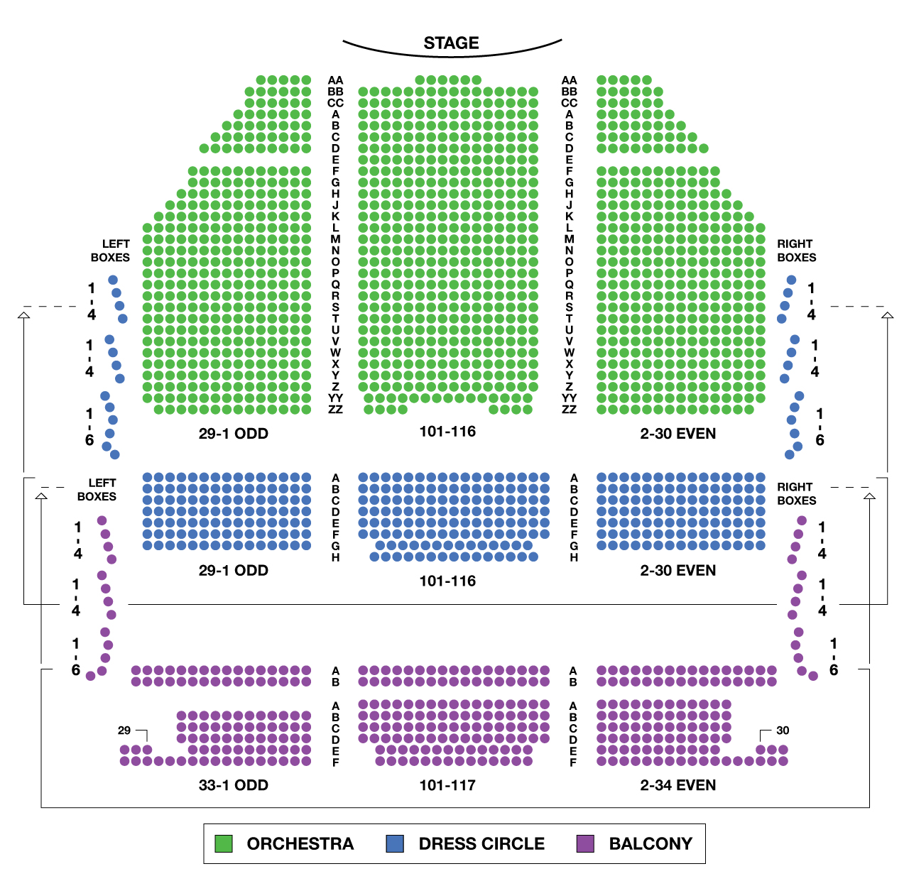 Lyric Theatre Large Broadway Seating Charts Broadwayworld