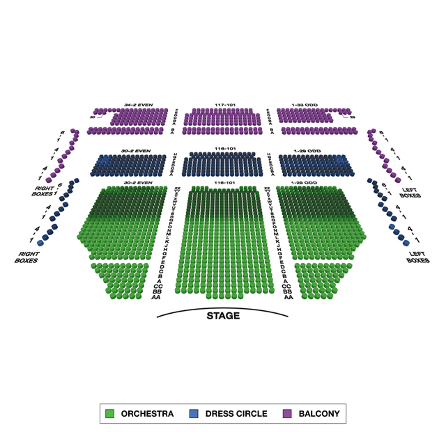 Lyric Theatre Broadway 3D Seating Chart