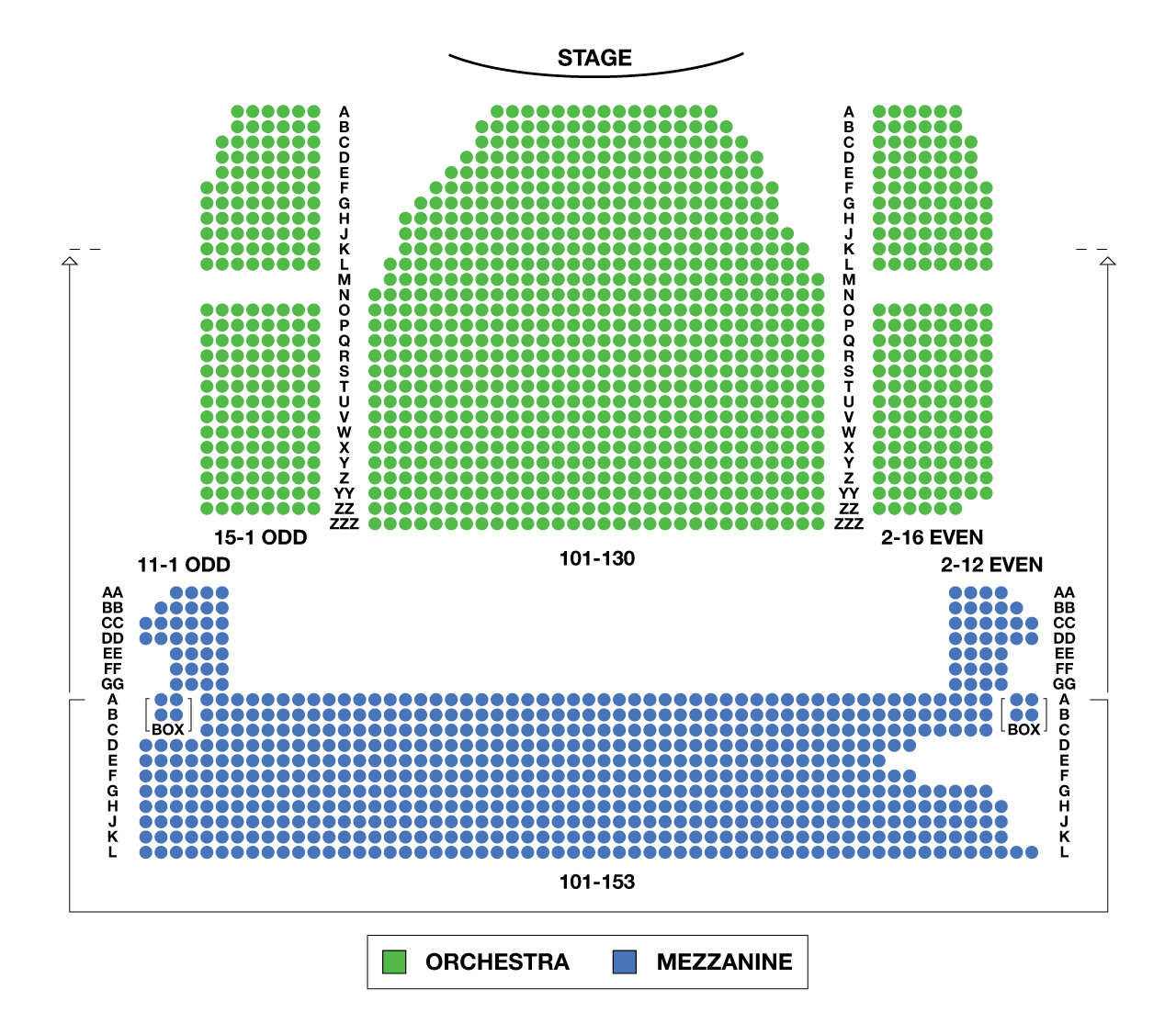 Minskoff Theatre Large Broadway Seating Charts