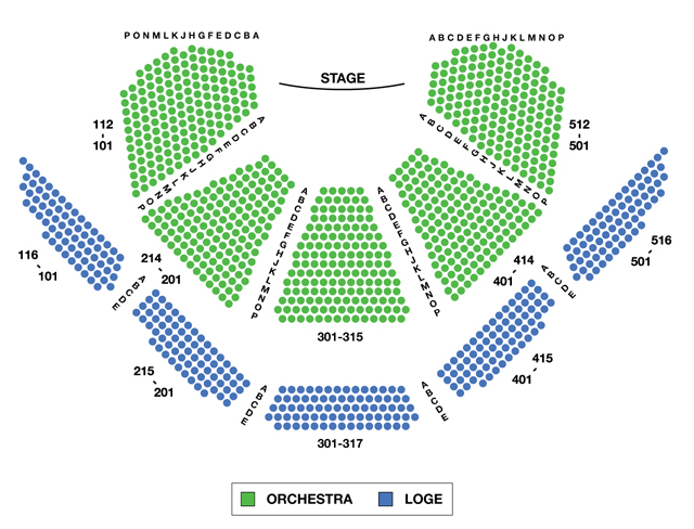 Vivian Beaumont Theater Broadway Seating Chart