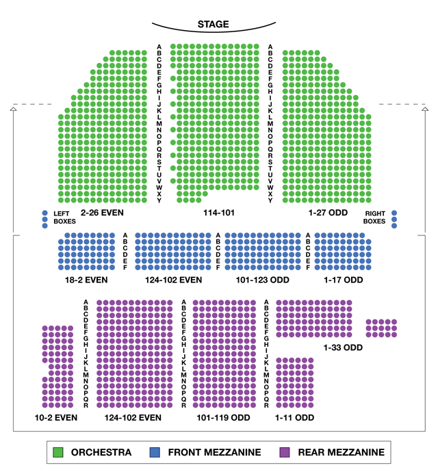 Broadway theatre broadway seating charts for Broadway plan