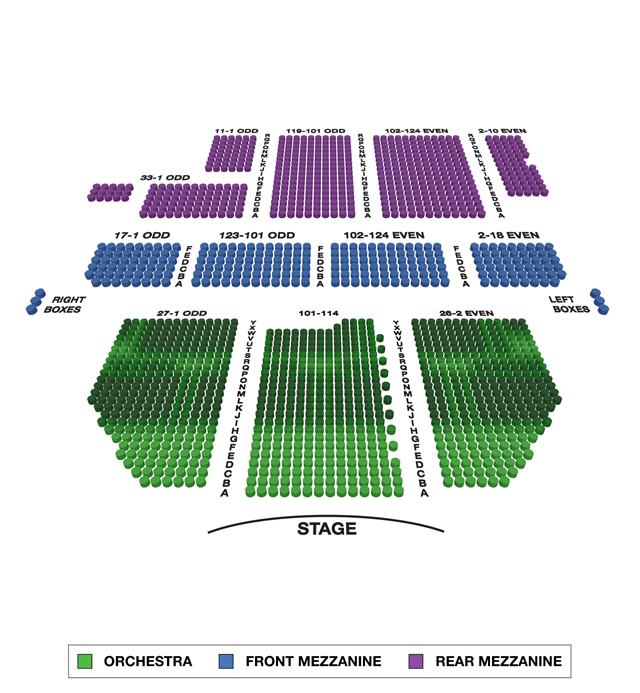 Broadway Theatre Broadway 3D Seating Chart