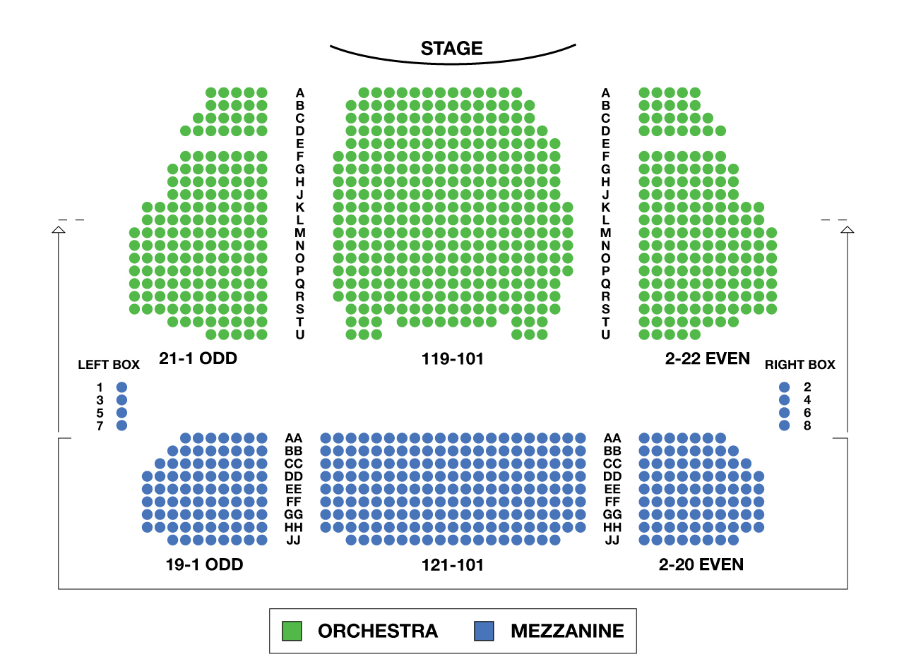 Stephen sondheim theatre large broadway seating charts for Broadway plan