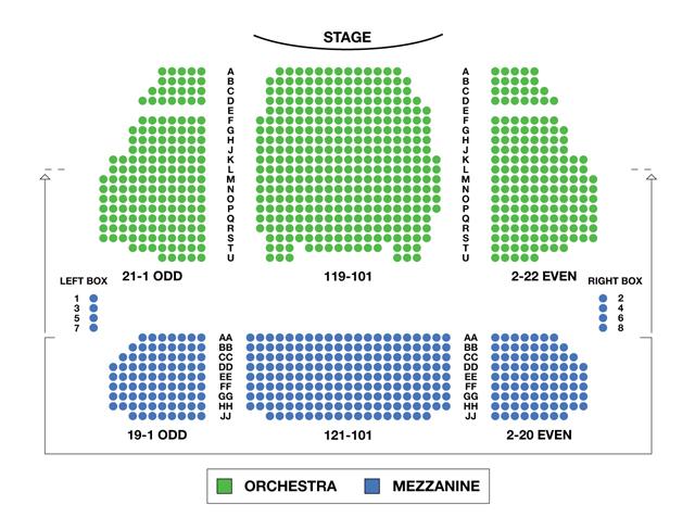 Stephen Sondheim Theatre Broadway Seating Chart