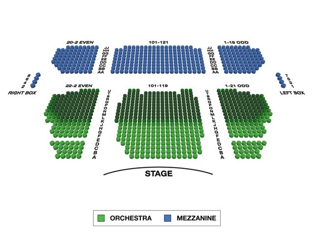 Stephen Sondheim Theatre Broadway 3D Seating Chart