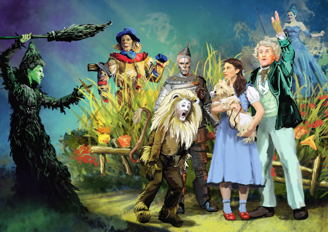 THE WIZARD OF OZ Stage Art 640