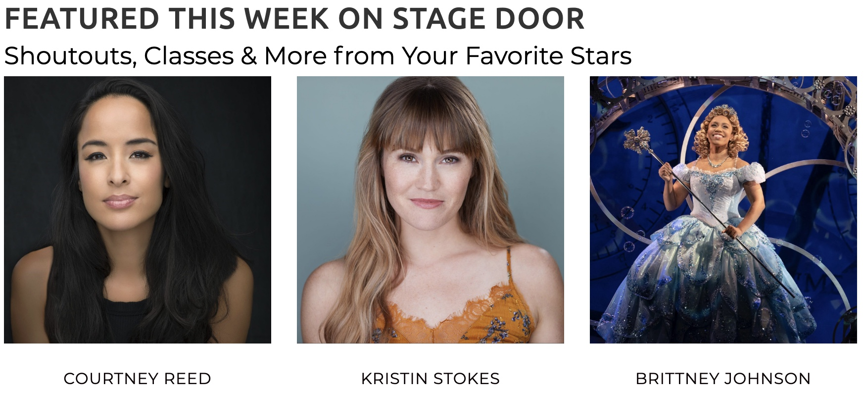 This Week on Stage Door