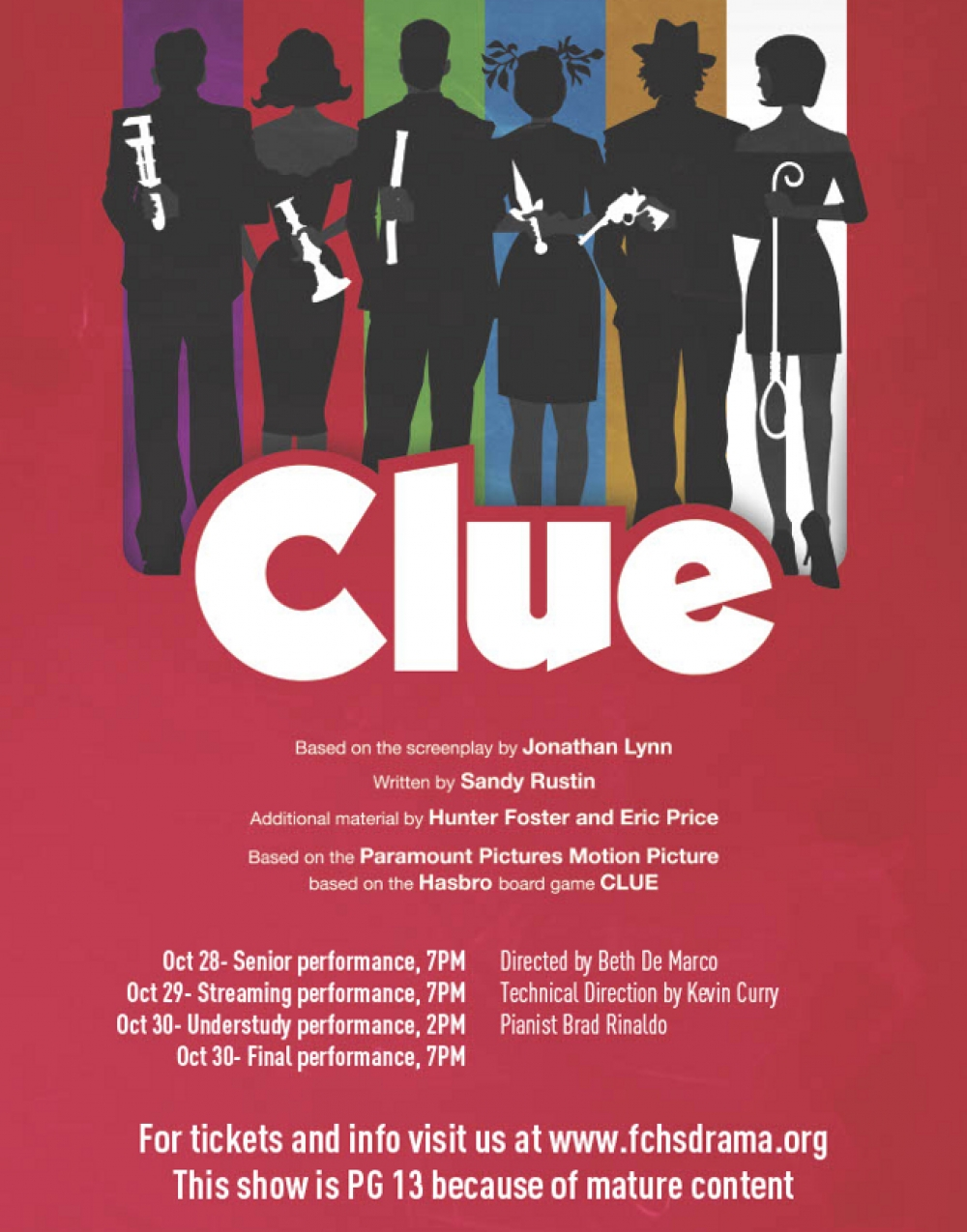 CLUE on STAGE at FCHS Spotlight Theatre Company