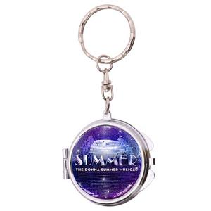 Summer Compact Mirror Keychain