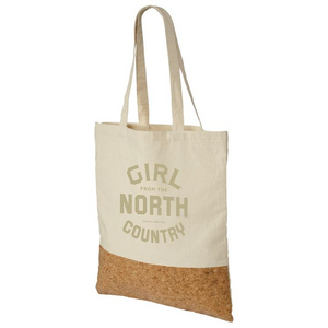 Girl from the North Country Natural Canvas Cork Tote Bag