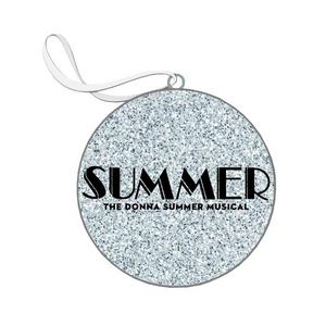 Summer Glitter Flat Ornament
