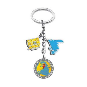 Come From Away Charm Keychain