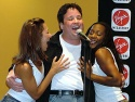 Max flanked by  Lauren Lebowitz and Nraca (two of the Wild