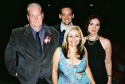 Playwright Doric Wilson, Jason Bowcutt (Executive Director of NYIT Awards), Penny Arcade and Erica Gould