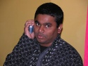 A R Rahman takes a call from a well-wisher
