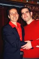 Comedians Rick Trabucco and Eddie Sarfaty