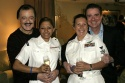 Robert Goulet, Kim Pilletere, Samantha Mumford, and Gary Beach Photo